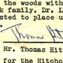 Sacred and Irrevocable Donation of Thomas